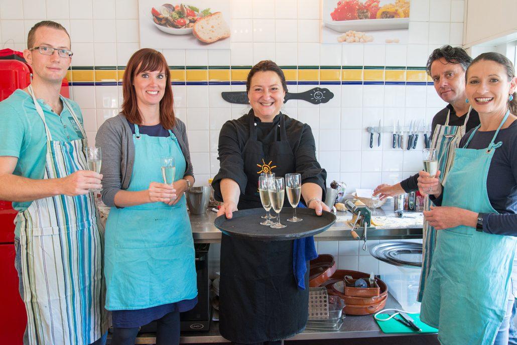 champagne after workshop Nicoletta la cucina del sole amsterdam