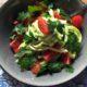 zoodles courgetti avocado pesto