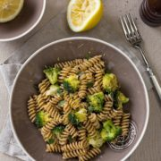 spelt pasta with broccoli and lemon