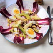 easter salad with radicchio egg cashews and avocado 2