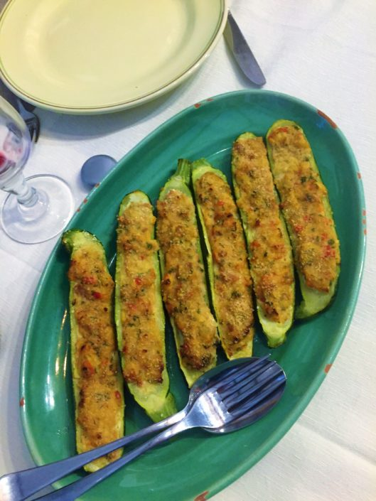 stuffed courgettes gevulde courgettes