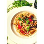 spaghettoni shiitake chilli