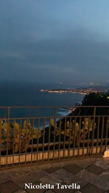 Taormina coast by night