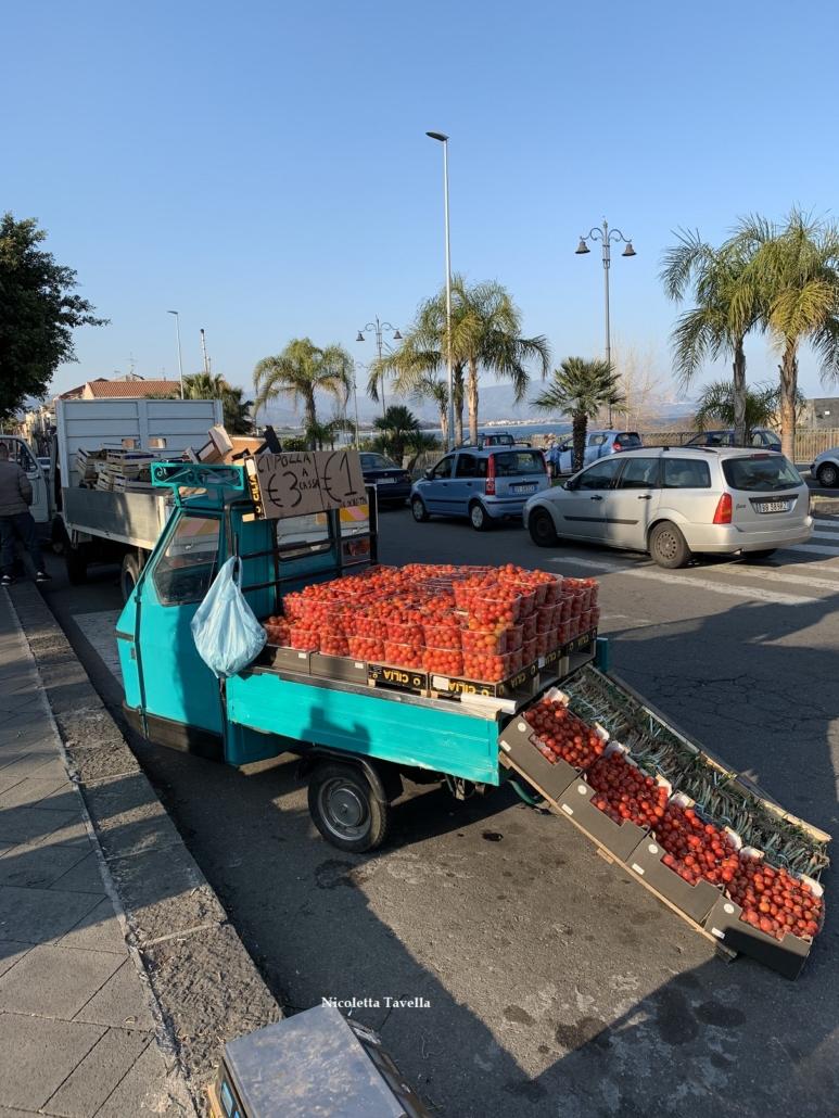 Street vendors Giarre in Sicily