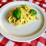 pasta with pistachio pesto