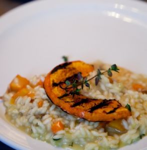 risotto mushrooms and pumpkin
