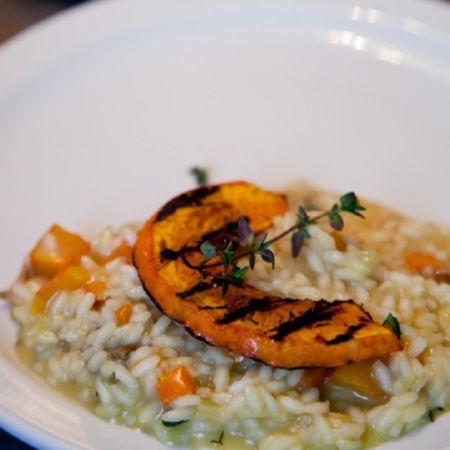 risotto mushrooms and pumpkin