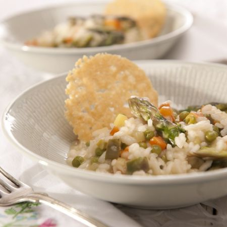 risotto with veggies