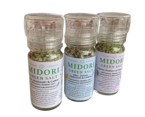 Midori Green Salt Grinders