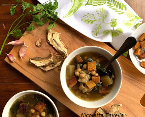 zimin chard and chickpea soup