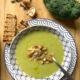 broccoli potato and shiitake soup