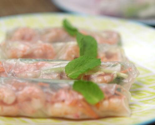 Mediterranean spring rolls