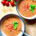 chilled tomato and roasted bell pepper soup